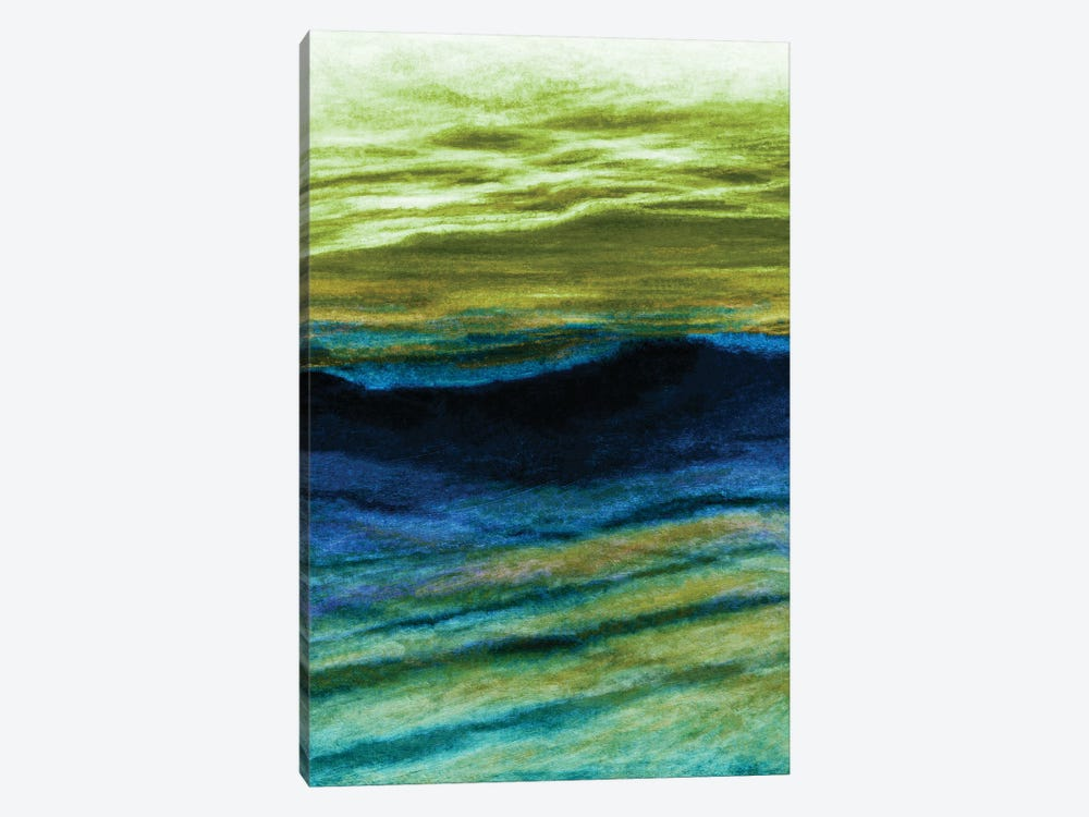 Reflections 4 Inverted, Colorful Ocean Waves Abstract by Julia Di Sano 1-piece Canvas Print