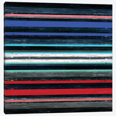 Color In Motion 1 Inverted, Bold Modern Stripes Abstract Canvas Print #JDS217} by Julia Di Sano Canvas Wall Art