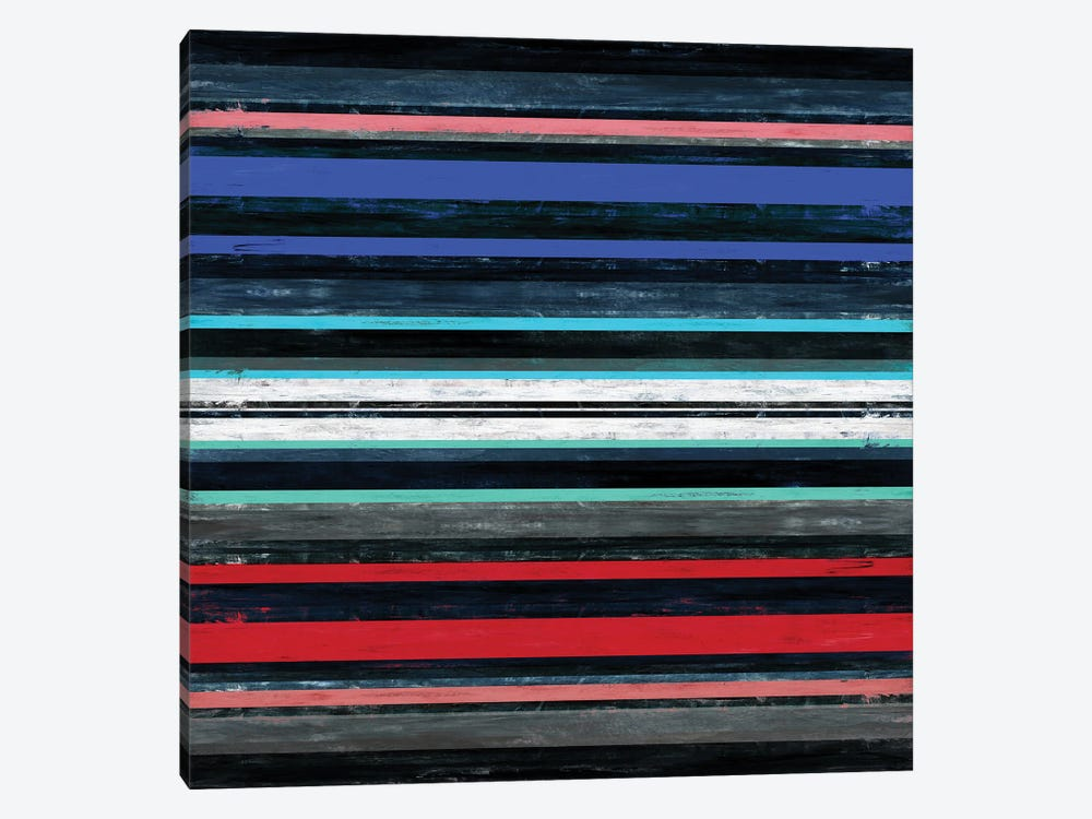 Color In Motion 1 Inverted, Bold Modern Stripes Abstract by Julia Di Sano 1-piece Canvas Wall Art