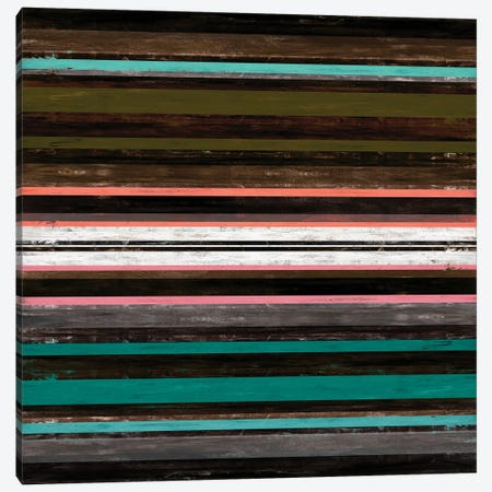 Color In Motion 3 Inverted, Bold Modern Stripes Abstract Canvas Print #JDS219} by Julia Di Sano Canvas Art Print