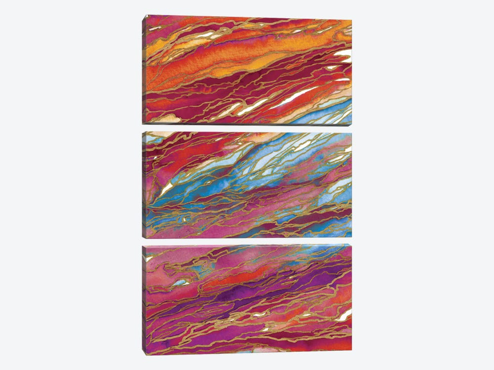 Agate Magic - Autumn Dust by Julia Di Sano 3-piece Canvas Art Print