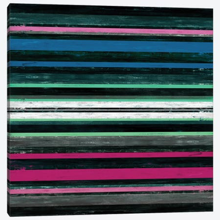 Color In Motion 4 Inverted, Bold Modern Stripes Abstract Canvas Print #JDS220} by Julia Di Sano Canvas Art