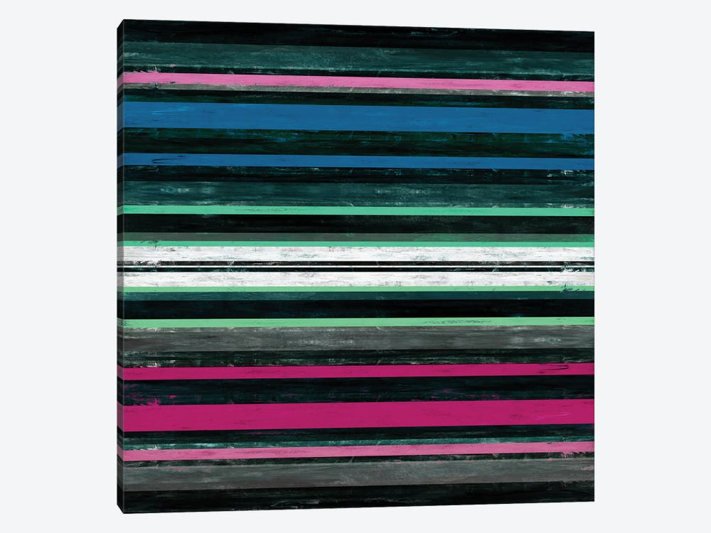 Color In Motion 4 Inverted, Bold Modern Stripes Abstract by Julia Di Sano 1-piece Canvas Wall Art