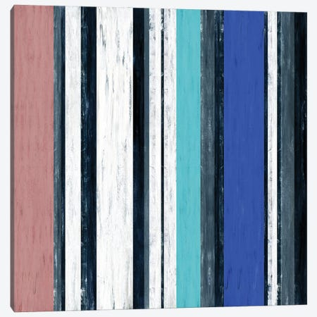 Fairweather Friends 1 Multi Inverted, Colorful Stripes Abstract Canvas Print #JDS221} by Julia Di Sano Canvas Artwork