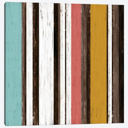 Fairweather Friends 2 Multi Inverted, Colorful Stripes Abstract Canvas Print #JDS222} by Julia Di Sano Canvas Art