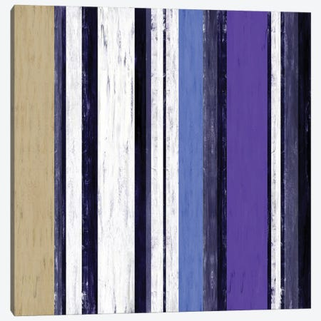 Fairweather Friends 3 Multi Inverted, Colorful Stripes Abstract Canvas Print #JDS223} by Julia Di Sano Canvas Wall Art