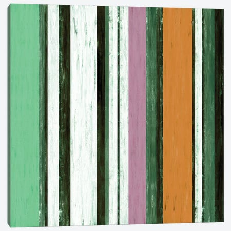 Fairweather Friends 4 Multi Inverted, Colorful Stripes Abstract Canvas Print #JDS224} by Julia Di Sano Canvas Print