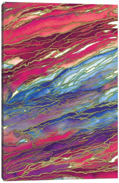 Agate Magic - Coastal Sunset Canvas Print #JDS22