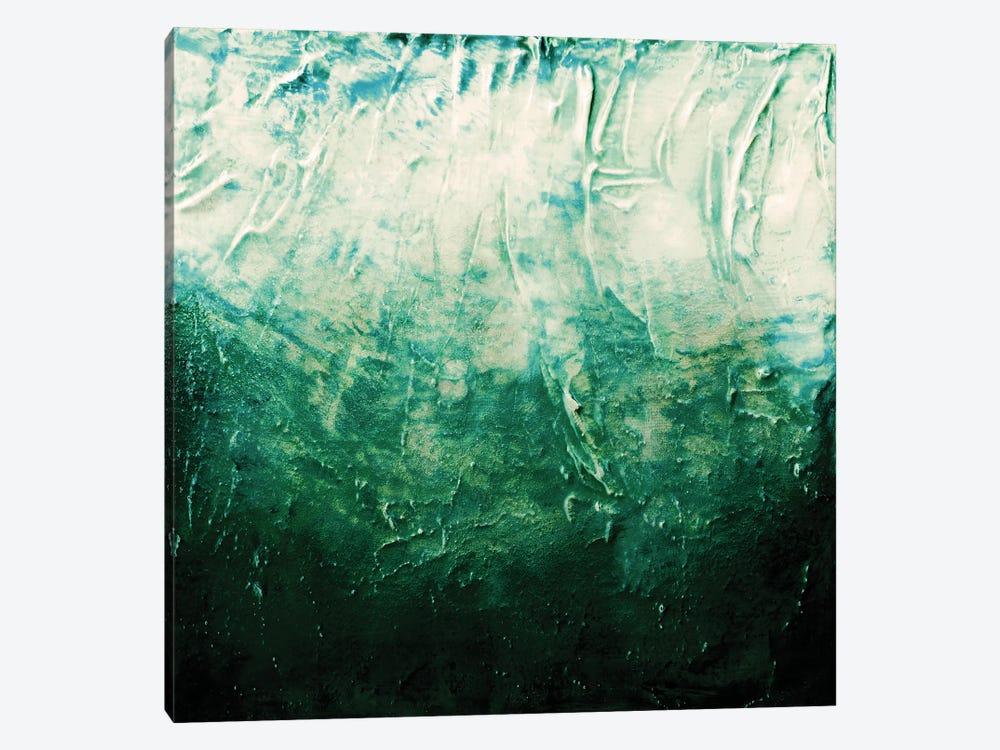 Beneath The Veil V, Dark Emerald Green Bold by Julia Di Sano 1-piece Canvas Wall Art
