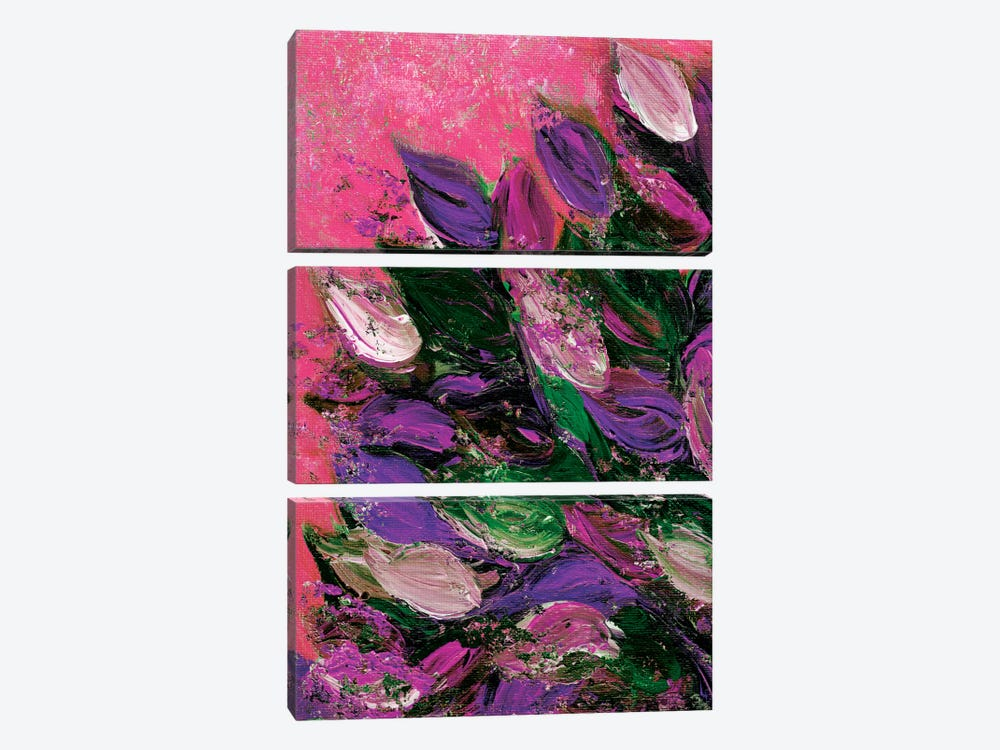 Blooming Beautiful IV by Julia Di Sano 3-piece Canvas Artwork