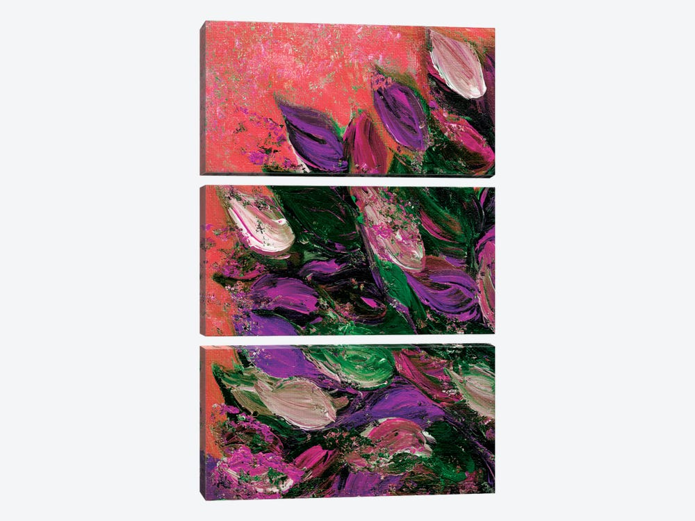 Blooming Beautiful VI by Julia Di Sano 3-piece Canvas Wall Art