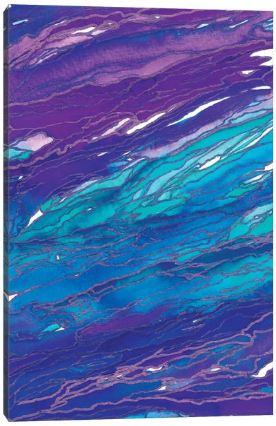 Agate Magic - Purple Aqua Canvas Print #JDS2