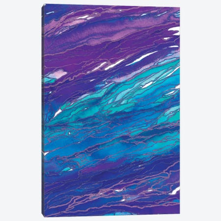 Agate Magic - Purple Aqua Canvas Print #JDS2} by Julia Di Sano Art Print