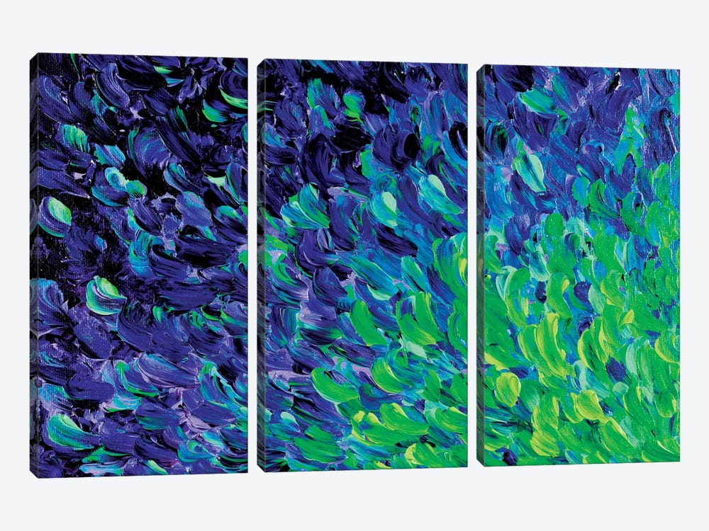 Deep Sea Drift I by Julia Di Sano 3-piece Canvas Print