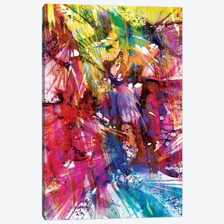 Birds Of Prey - Sunshine Splash I Canvas Print #JDS3} by Julia Di Sano Art Print