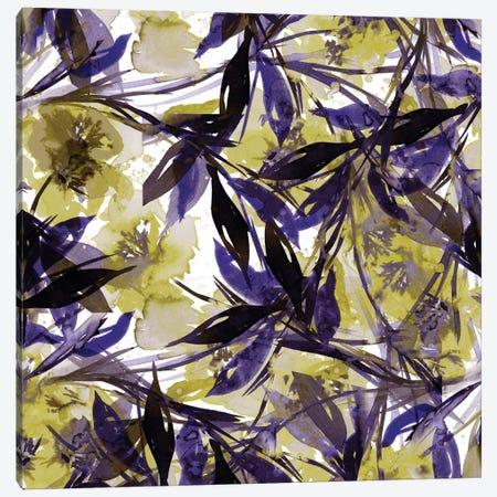 Floral Fiesta - Yellow & Violet Canvas Print #JDS42} by Julia Di Sano Canvas Wall Art