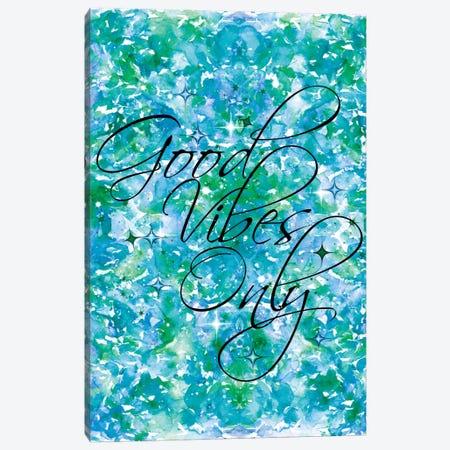 Good Vibes Only - Blue & Green Canvas Print #JDS45} by Julia Di Sano Art Print