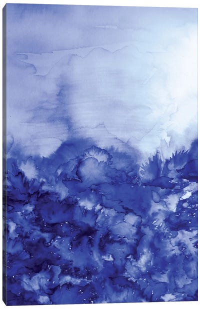Into Eternity - Indigo Blue Canvas Art Print
