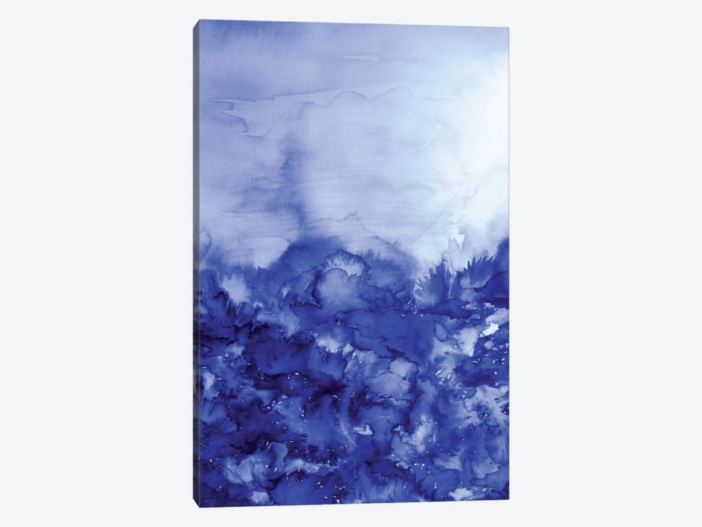 Into Eternity - Indigo Blue by Julia Di Sano 1-piece Canvas Artwork