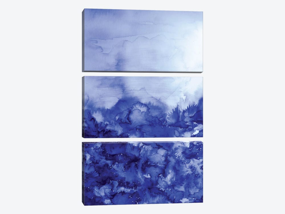 Into Eternity - Indigo Blue by Julia Di Sano 3-piece Canvas Artwork