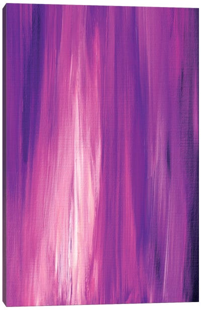 Irradiated - Orchid Canvas Art Print