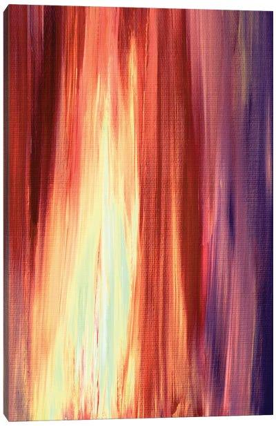 Irradiated - Rust, Cream & Violet Canvas Print #JDS51