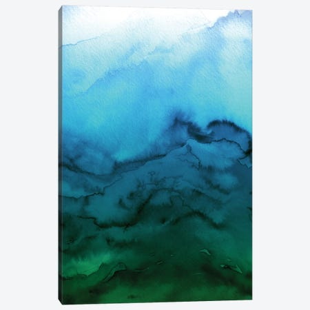 Winter Waves - Blue Green Ombre Canvas Print #JDS79} by Julia Di Sano Canvas Art Print
