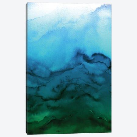 Winter Waves - Blue Green Ombre Canvas Print #JDS79} by Julia Di Sano Canvas Art Print