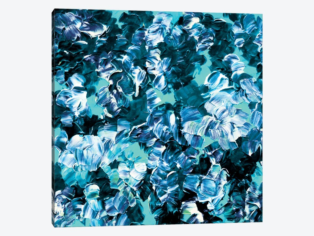 Floral Fantasy - Aqua by Julia Di Sano 1-piece Art Print