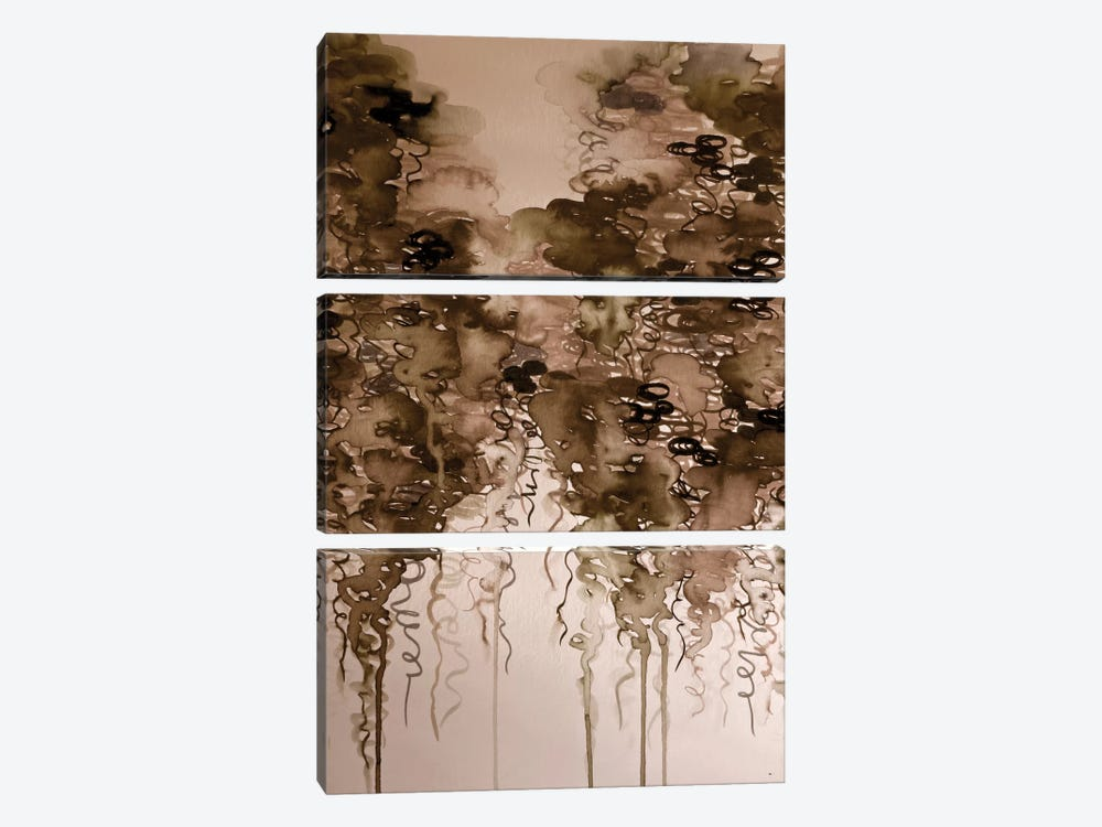 Coffee Clouds by Julia Di Sano 3-piece Canvas Print