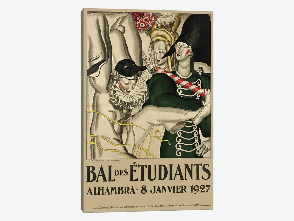 Bal des Étudiants, 1927 by Jean Dupas 1-piece Art Print