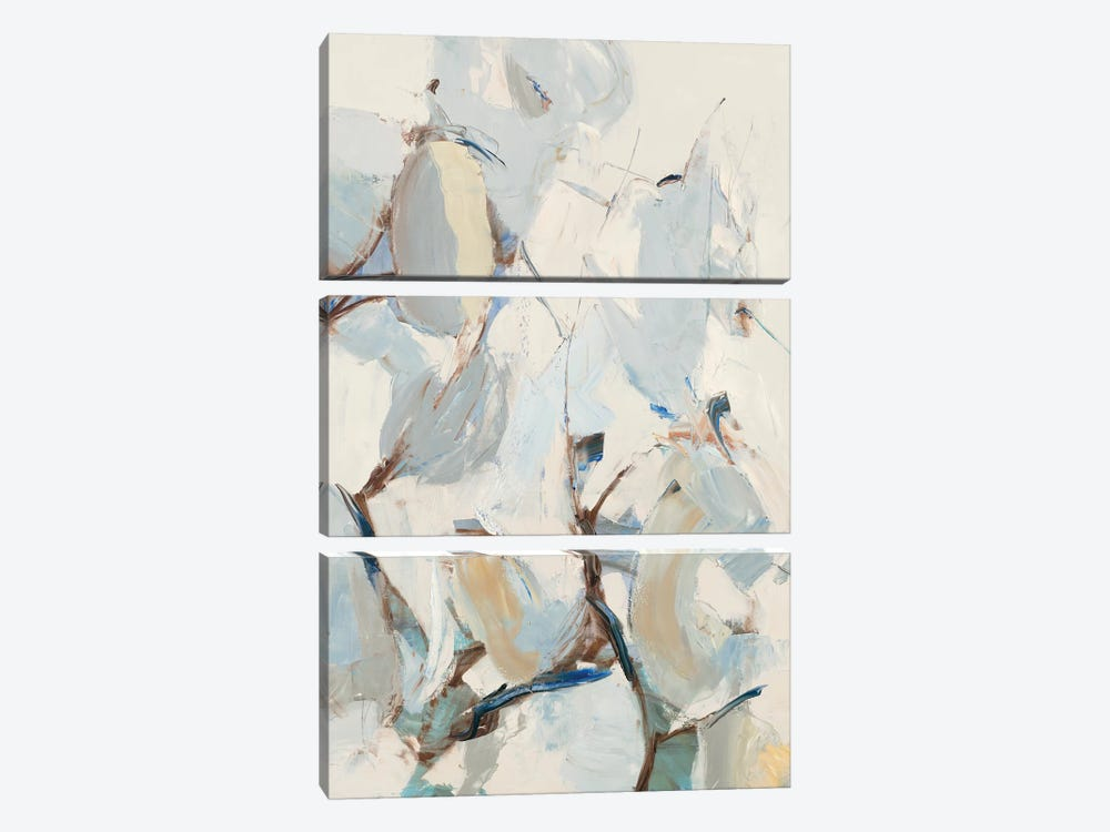 Wind and Pear Tree by Julie Devine 3-piece Canvas Print