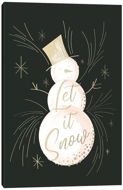 Elegant Christmas III Canvas Art Print