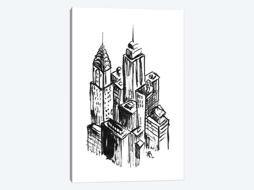 New York II by Jeff Rogers 1-piece Canvas Artwork