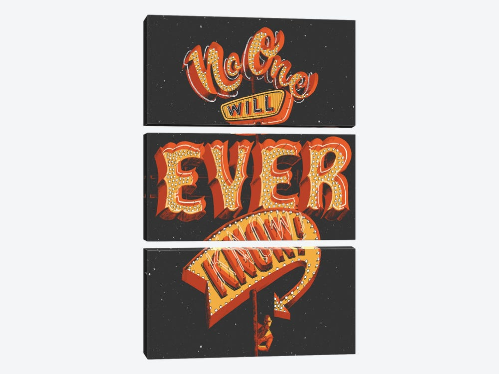 No One Will Ever Know by Jeff Rogers 3-piece Canvas Art Print