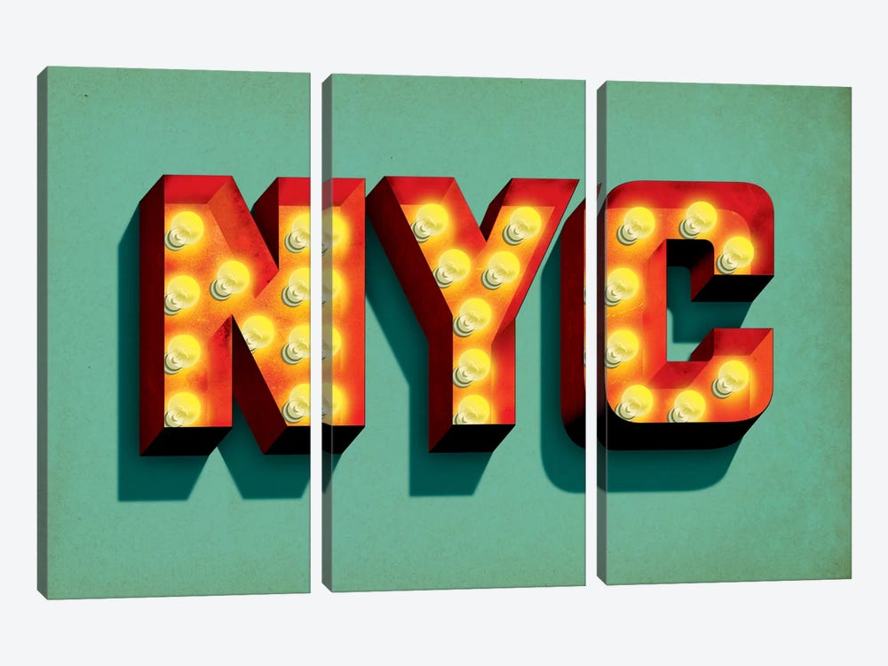 NYC by Jeff Rogers 3-piece Canvas Wall Art