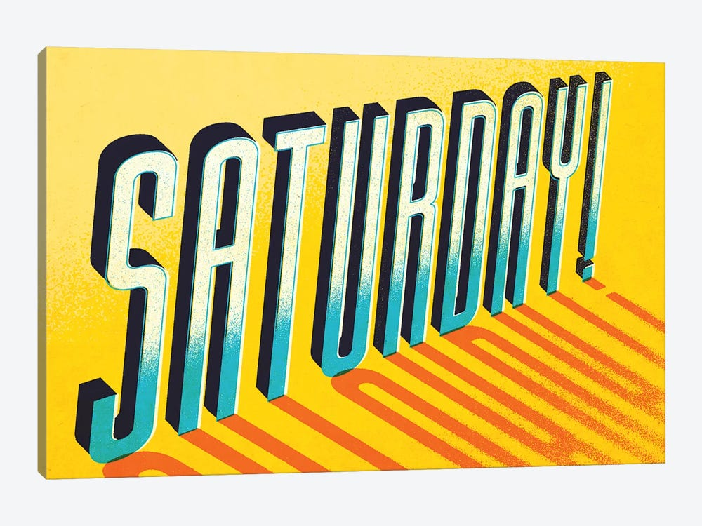 Saturday! by Jeff Rogers 1-piece Art Print