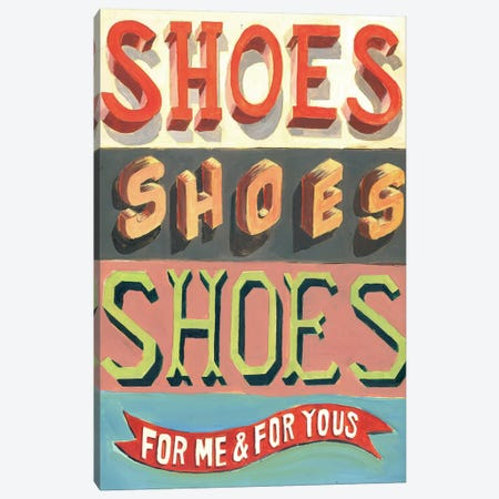 Shoes! Shoes! Shoes! Canvas Print #JEF14} by Jeff Rogers Canvas Wall Art