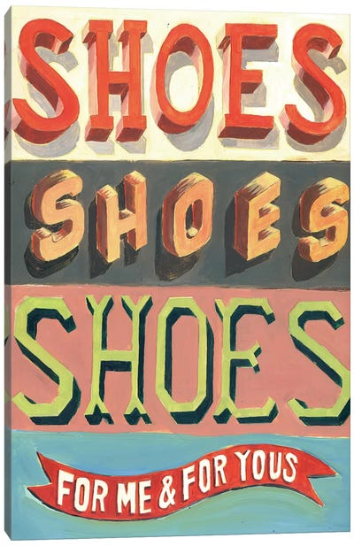 Shoes! Shoes! Shoes! Canvas Print #JEF14