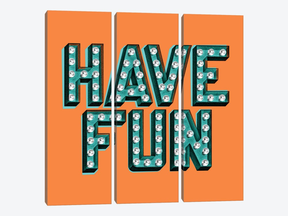 Have Fun by Jeff Rogers 3-piece Art Print