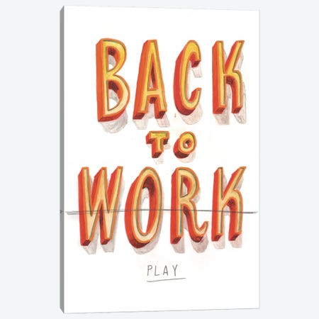 Back To Work II Canvas Print #JEF1} by Jeff Rogers Canvas Artwork