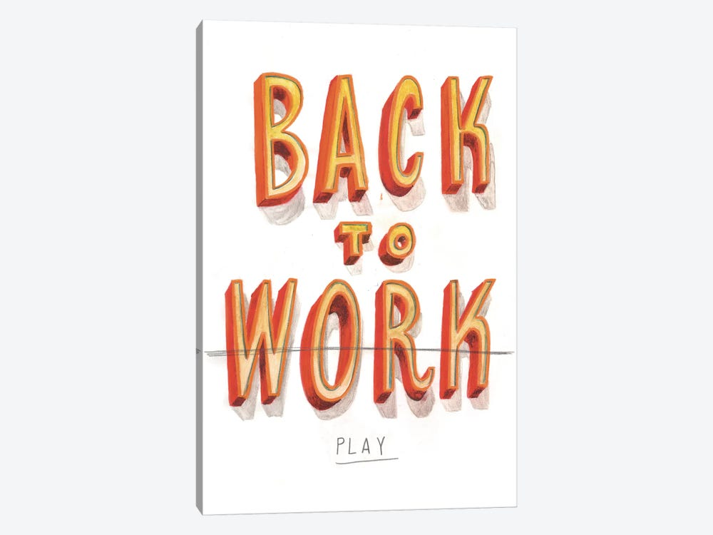 Back To Work II 1-piece Art Print