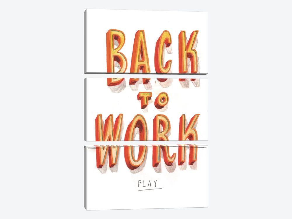Back To Work II by Jeff Rogers 3-piece Art Print