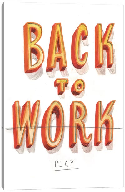 Back To Work II Canvas Art Print