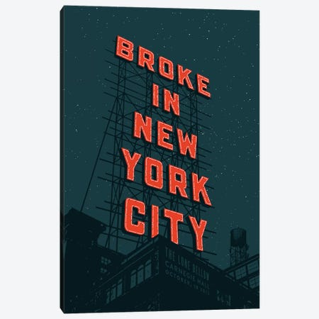 Broke In NYC Canvas Print #JEF3} by Jeff Rogers Canvas Art