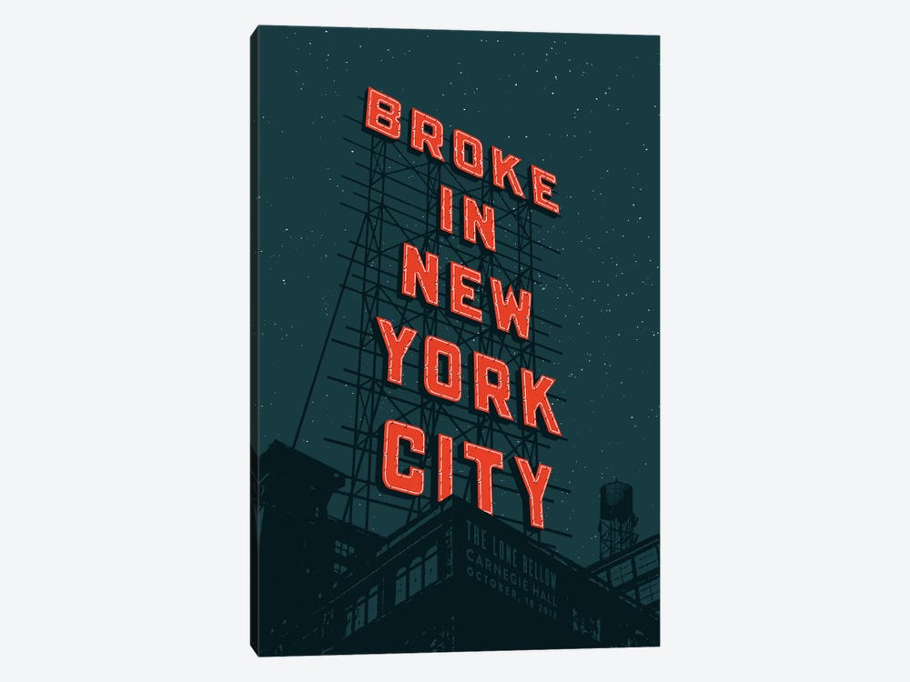 Broke In NYC by Jeff Rogers 1-piece Canvas Print