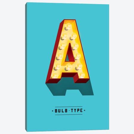 Bulb Type Font Canvas Print #JEF4} by Jeff Rogers Canvas Print