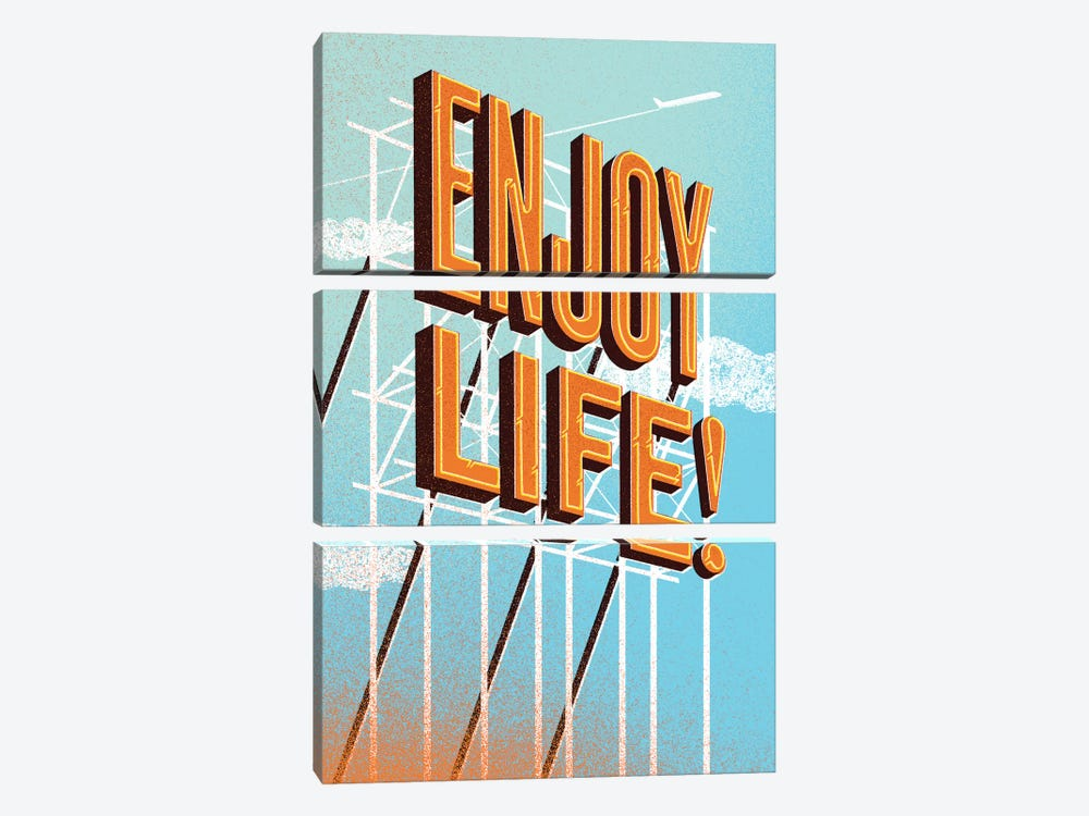 Enjoy Life! by Jeff Rogers 3-piece Canvas Art Print