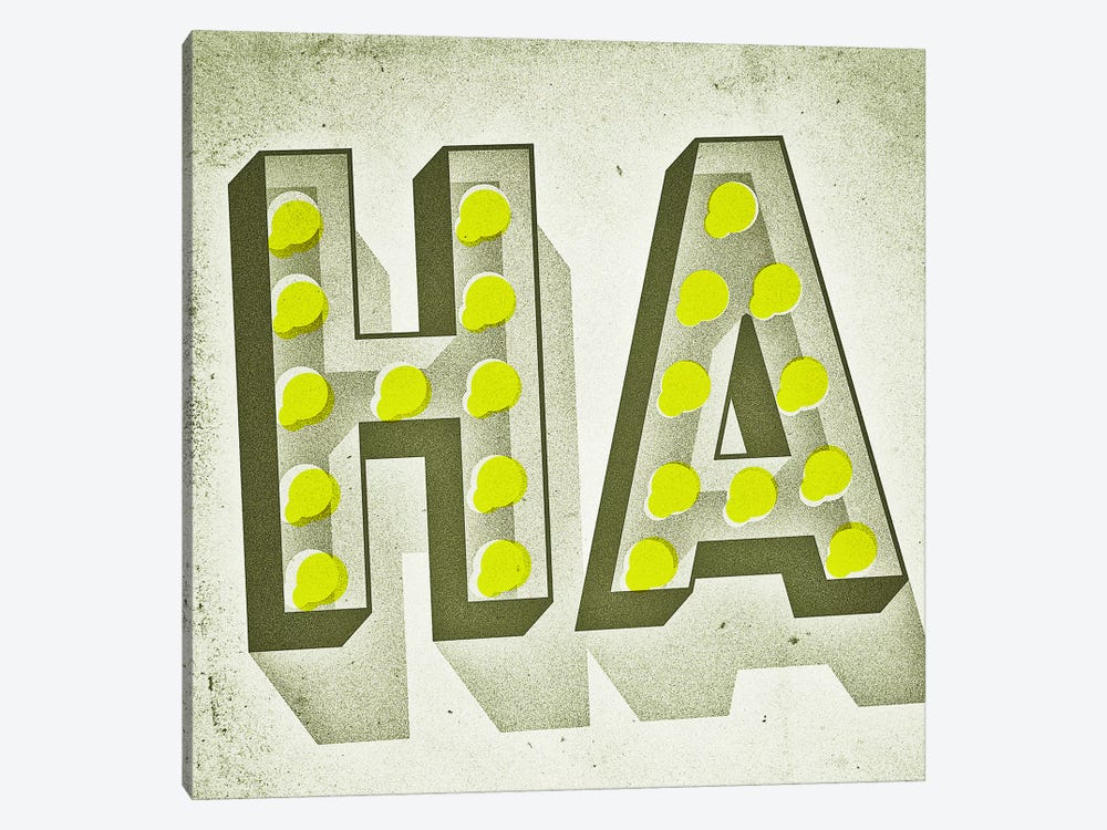 HA by Jeff Rogers 1-piece Canvas Art Print