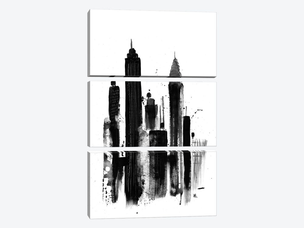 New York I by Jeff Rogers 3-piece Canvas Print